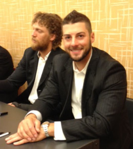George Kontos next to Hunter