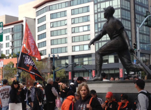 Opening Day in Willie Mays Plaza